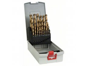 Bosch - 25dílná sada vrtáků do kovu ProBox HSS-TiN (titanový povlak) 1-13 mm
