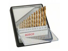 Bosch - 13dílná sada vrtáků do kovu Robust Line HSS-TiN, 135° 1,5; 2; 2,5; 3; 3,2; 3,5; 4; 4,5; 4,8; 5; 5,5; 6; 6,5 mm, 135°