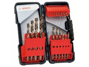 Bosch - 18dílná sada vrtáků do kovu Toughbox HSS-Co, DIN 338, 135° 1; 1,5; 2; 2,5; 3; 3,5; 4; 4,5; 5; 5,5; 6; 7; 8; 9; 10 mm