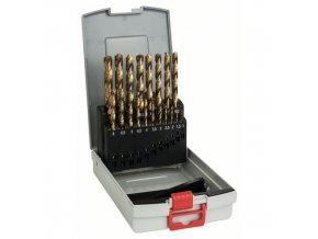 Bosch - 19dílná sada vrtáků do kovu ProBox HSS-TiN (titanový povlak) 1-10 mm