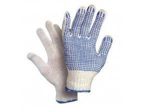 Bavlněné rukavice CXS s terčíky, bílé/modré