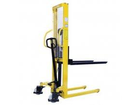 Ruční vysokozdvižný vozík, do 500 kg, výška zdvihu 1 560 mm