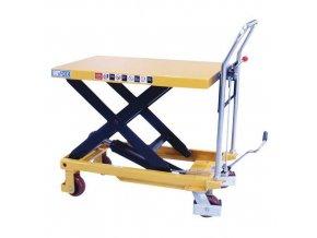 Mobilní hydraulický zvedací stůl Manu, do 300 kg, deska 81,5 x 50 cm