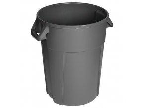 Plastové odpadkové koše Manu Pure, objem 85 l