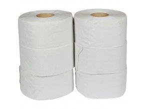 Toaletní papír Jumbo 2vrstvý, 19 cm, 105 m, 75% bílá, 6 rolí