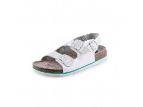 Zdravotní kožené sandály CXS Dr. Cork, bílé