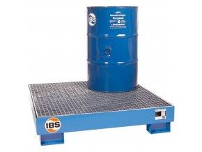 Kovová záchytná vana IBS H20, pro 4 sudy