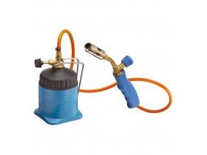 Plynová pájecí letlampa s hadicí, 650 °C, 2 kartuše 190 g/419 ml