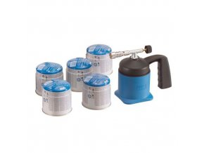 Plynová pájecí letlampa, 650 °C, 5 kartuší 190 g/419 ml