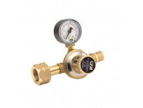 Regulátor tlaku plynu 3/8'' s manometrem, 1 až 4 bar, levý závit