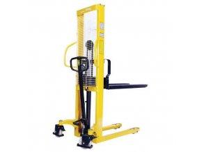 Ruční vysokozdvižný vozík, do 1 000 kg, výška zdvihu 1 600 mm
