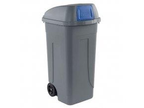Plastové venkovní popelnice na tříděný odpad, objem 100 l
