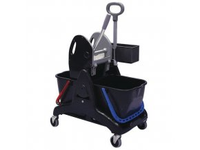 Úklidový vozík Manu s pákovým ždímačem, objem 2 x 25 l