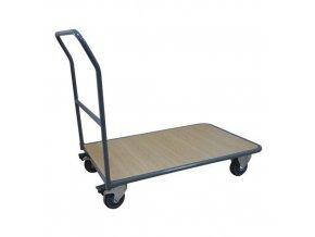 Plošinové vozíky Manu s madlem, do 250 kg