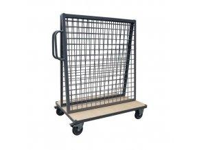 Vozík s nástavbou pro zavěšení materiálu Manu, do 500 kg