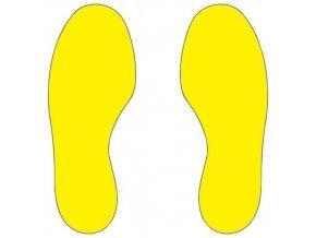 Signalizační podlahové značení - stopy, 30 x 10 cm, 10 ks