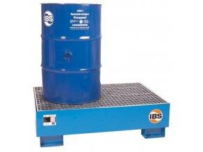 Kovová záchytná vana IBS H10, pro 2 sudy