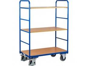 Vysoký policový vozík do 250 kg, 3 police