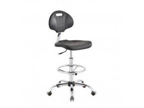 Antistatická ESD pracovní židle Ralph s podnožkou a s kolečky