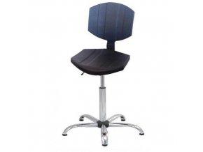 Antistatická ESD pracovní židle Carl s kluzáky