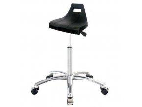 Antistatická ESD pracovní stolička Lenny s kluzáky