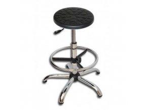 Antistatická ESD pracovní stolička Ned s kluzáky