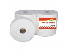 Toaletní papír Jumbo 2vrstvý, 19 cm, 125 m, 100% celulóza, 6 rolí