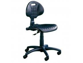 Pracovní židle Nelson PK s tvrdými kolečky