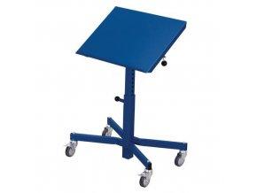 Transportní zvedací stojan s nastavitelným náklonem stolu, do 150 kg, výška 50 - 77 cm