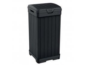 Plastový venkovní odpadkový koš Baltimore, objem 125 l