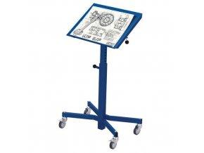Transportní zvedací stojan s nastavitelným náklonem stolu, do 150 kg, výška 75 - 110 cm