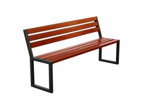 Parková lavička Modern B s opěradlem