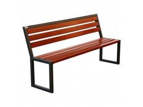 Parková lavička Modern s opěradlem