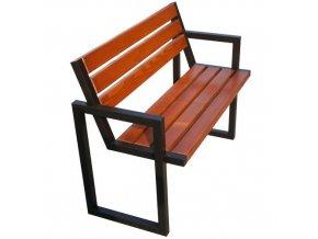 Parková lavička Modern III s opěradlem a područkami