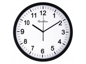Analogové hodiny RS3 Manutan, autonomní DCF, průměr 30 cm