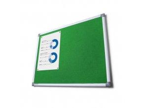 Textilní nástěnky Scritto, zelené