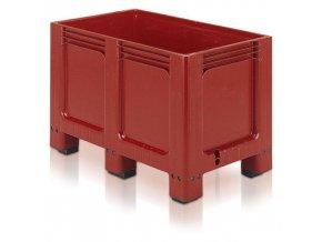 Paletový kontejner, 260 l, 6 noh