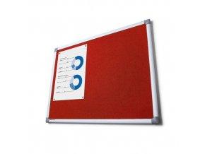Textilní nástěnky Scritto, červené