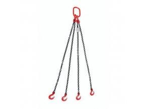 Vázací řetěz s okem a čtyřmi háky s regulací délky řetězu, do 2 360 kg