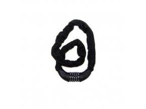 Řetězový kodový zámek na kolo, 6x900 mm, černý