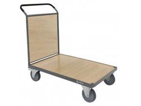 Plošinové vozíky Manu s madlem s plnou výplní, do 500 kg
