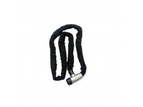 Řetězový zámek na motocykl, 8x1500 mm, černý
