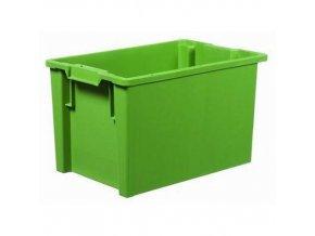 Stohovatelné zasouvací přepravky PP, zelené