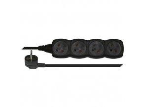 Prodlužovací kabely Emos, 4 zásuvky, černé