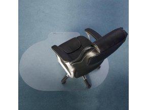 Ochranná podložka pod židli na tvrdé podlahy oválná, 150 x 120 cm