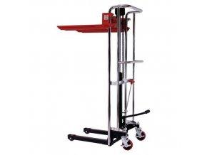 Ruční vysokozdvižný vozík, do 400 kg, výška zdvihu 1 500 mm