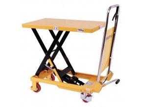 Mobilní hydraulický zvedací stůl, do 150 kg, deska 74 x 45 cm