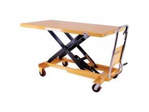 Mobilní hydraulický zvedací stůl, do 500 kg, deska 160 x 81 cm