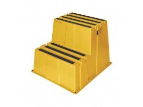 Plastové pracovní podesty Manu, žluté