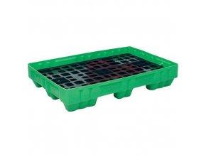 Plastová záchytná vana s roštem, kapacita 150 l